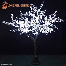 outdoor artificial trees with lights white lighted led cherry tree