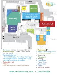 Sanibel Island Map Directions U0026 Campus Map Sanibel Community Church