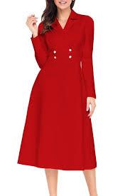 style vintage pas cher robe vintage mi longue manches longues bouton robe vintage