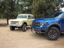 Ford F150 Truck 1970 - ford raptor meets a 1970 ford bronco for a winching demo project