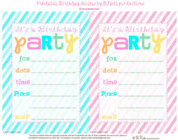 bnute productions free printable striped birthday party invitation