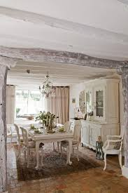 123 best dining tables chairs images on pinterest painted dining room tranquil french country dining with painted barn wood detail coupled with brick tile