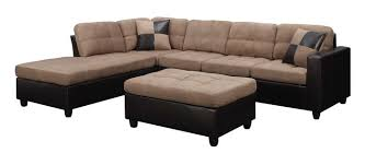 Reversible Sectional Sofas Coaster 505675 Mallory Tan Reversible Sectional Sofa With Ottoman
