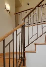 Metal And Wood Furniture Furniture Simple And Sleek Contemporary Staircase Railings With