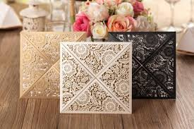 gold wedding invitations design rustic gold wedding invitations laser cut invitation cards