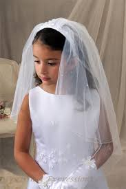 1st communion veils communion headband veil with pretty flowers