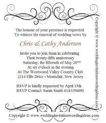 exles of wedding program wording 25th wedding anniversary renewal invitation wording exles