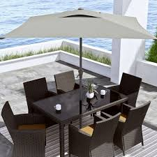 Grey Patio Umbrella Corliving Ppu 330 U 6 5 Ft Square Patio Umbrella In Sand Grey