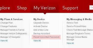 verizon visual voicemail android manual how to reset voicemail password on iphone at t or