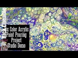 six color dirty pour acrylic paint pouring using liquitex basics