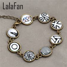 hand make bracelet images Hand make teen wolf symbols beads bracelets sl916 in bangles from jpg