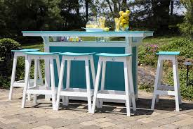 Berlin Patio Furniture Berlin Gardens Island Poly Bar Set From Dutchcrafters Amish Furniture