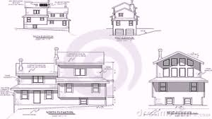 house with floor plans and elevations house plans elevation section youtube