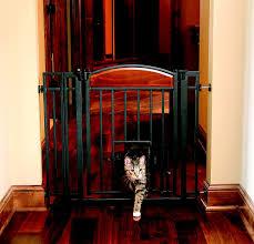 carlson pet products design studio metal walk thru gate with pet