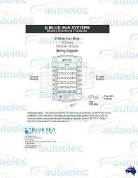 blue sea 5034 fuse block box holder marine boat battery 12 volt