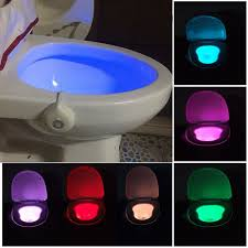 8 colors changing toilet lights motion activated lights