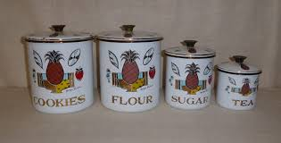 retro vegas kitchen sold georges briard canister set vintage
