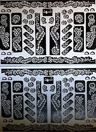 amazon com sheet henna stickers bodyart mehndi stencil clothing