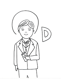 d is for st dominic savio saints to color