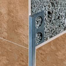aluminum edge trim for tiles outside corner for partition walls