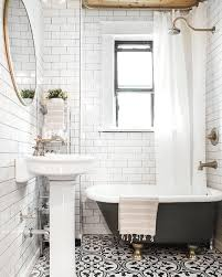clawfoot tub bathroom design freshen up your bathroom in 2017 with this mixed tile trend bath