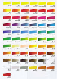 cryla acrylics hints and tips colour charts