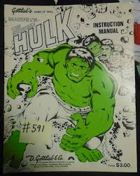 incredible hulk pinball machine game manual 591 sale