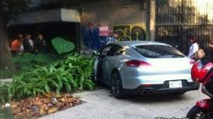 silver porsche panamera porsche panamera turbo crashed in mexico city by a diplomat u0027s son