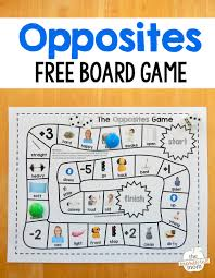 grab this fun and free opposites game for preschool just print
