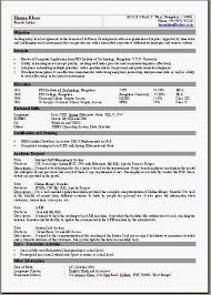 Single Page Resume Template One Page Resume Template Word Onepageresumeformatindoc One Page