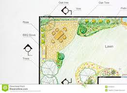 L Shaped Garden Design Ideas Landscape Architect Design Garden Plan Stock Image Image Of