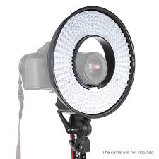photography ring light lamp panel 300 leds cri 95 5500k color