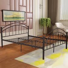 Metal Bed Frame Headboard Costway Black Size Metal Bed Frame Mattress Platform