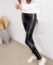 bong nu quần legging da bóng dây kéo cao cấp thời trang