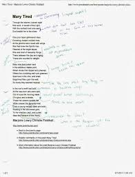 Rhyme Scheme Worksheet A Retail Life After The Mfa November 2013