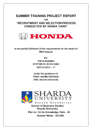 honda siel cars india ltd greater noida jyoti sharda bcom