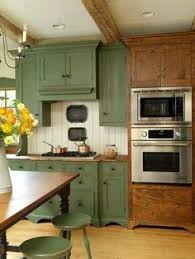 Rustic Painted Kitchen Cabinets by Distressed Red Kitchen Cabinets Oh Be Still My Heart I Love