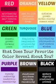 what does your favorite color say about you what does your favorite color reveal about you