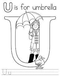 letter umbrella coloring preschool kids bulk color
