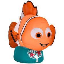 Home Depot Inflatable Christmas Decorations Disney 42 13 In D X 23 23 In W X 31 10 In H Inflatable Nemo