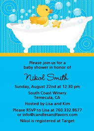 duck baby shower invitations duck baby shower invitations candles and favors