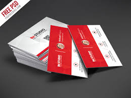 Studio Visiting Card Design Psd Creative Red Business Card Free Psd Template Psdfreebies Com