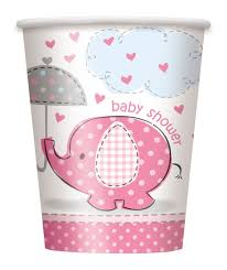 baby shower girls wikii baby shower elephant party cups