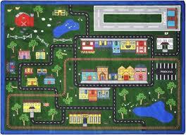 Playroom Rug Tiny Town Kids Playroom Rug 5 U00274 X 7 U00278 1414c Sensory Edge