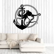 vinyl wall decal anchor octopus rope nautical style marine art vinyl wall decal anchor octopus rope nautical style marine art stickers mural ig4998