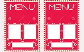 blank menu templates 41 valentines menu templates free psd eps format