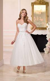 tea length wedding dresses uk tulle lace strapless sweetheart tea length gown wedding