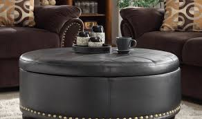 Round Ottoman Coffee Tables Round Leather Ottoman Coffee Table Outstanding