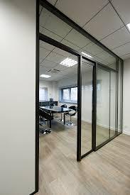 porte de bureau vitr cloison coulissante vitre cheap coulisse en fer plat forg viss sur