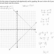 solving a system of equations 2 students are asked to solve a worksheet answer